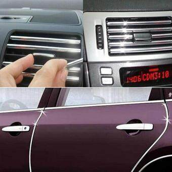 Harga 4m Silver Chrome U Style Flte Trim Moulding For Interior Edge Vent Grille Silver 4M