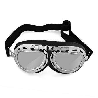 Harga Vintage Aviator Pilot Motorcycle Goggles Glasses Protection Helmet New