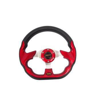 Harga MOMO 13 inch PU Steering Wheel/Drifting Steering Wheel/Racing Steering Wheel - Red