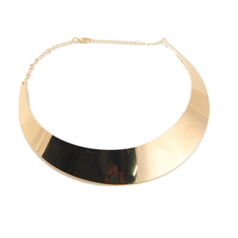 Harga Jo.In Polish Choker Collar Necklace Bib Torque Torc Chain Catwalk Goth Punk Rock (Gold)