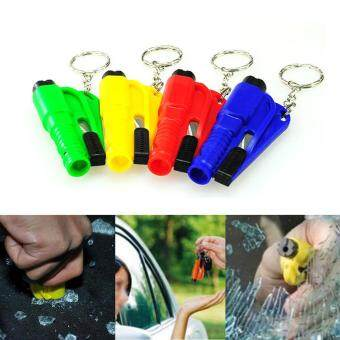 Harga Mini Safety Keychain Car Emergency Rescue Glass Breaker Hammer Escape Tool Multicolor