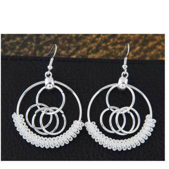 Harga MQ Silver Circle Spring Earrings