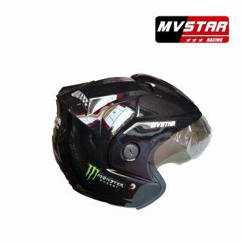 Harga MV STAR Rs1 Monster Helmet Meduim/Large Size Black, White, Flat Black, Grey