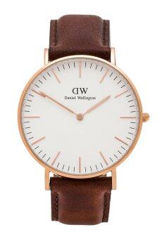Harga DANIEL WELLINGTON 0106DW Classic ST Mawes 40mm Analog Men'sWatch (Brown)