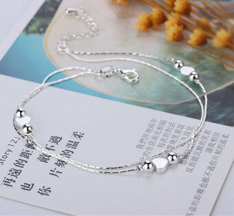 Harga Diamonds korean fashion female models hypoallergenic anklets 925 silver anklets silver jewelry foreign trade jewelry wholesale