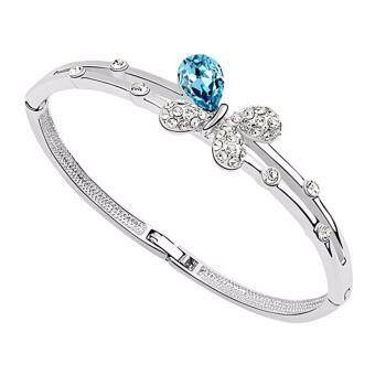 Harga LOVENGIFTS Swarovski Butterfly Charm Bangle