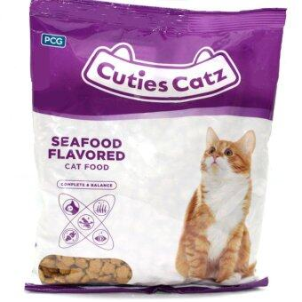 Harga Cuties Catz Cat Food 400g x 22 packets (8.8kg) Seafood Flavored
