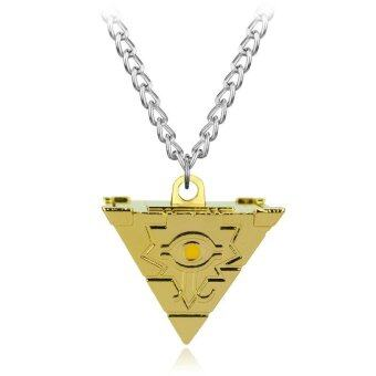 Harga Rorychen Millennial Building Block Awl Pendant Necklace Anime 3D Yu-Gi-Oh Chain Long Necklace(Gold)