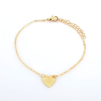 Harga Sexy Gold Tone Love Heart Anklets For Women Girl Anklet Fashion Jewelry (Gold)