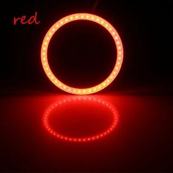 Harga COB 70mm 2Pieces Auto Halo Rings Angel Eye COB Chips Headlight Car Angel Eyes Motorcycle With Lampshades Bright(red) - Intl