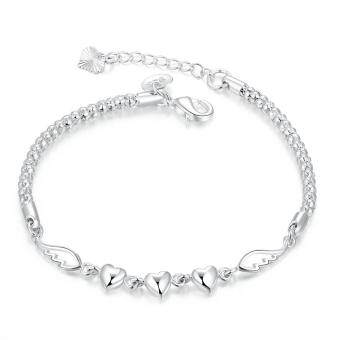 Harga Charming china supplier love forever silver bracelet