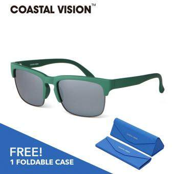 Harga COASTAL VISION Polarized Men Green sunglasses Rectangle anti UVA/B lenses CVS5821