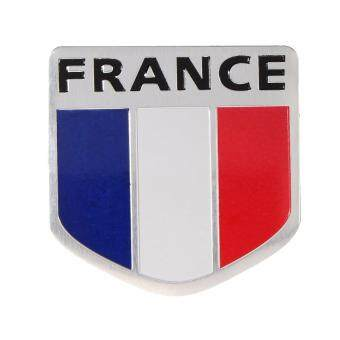 Harga Car Motorbike Aluminum 3D France French Flag Shield Emblem Badge Decals Sticker