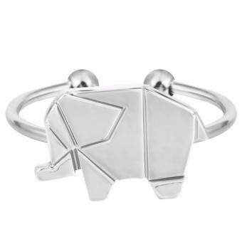 Harga LOVENGIFTS Origami Elephant Adjustable Ring