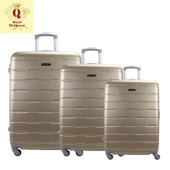 Harga Royal McQueen Hard Case 4 Wheels Spinner Light Weight (20+24+28) Luggage – QTH 6910 (GOLD)