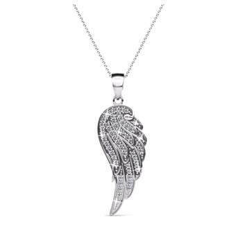 Harga LOVENGIFTS Swarovski Glitter Angel Wing Pendant Necklace