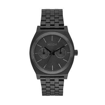 Harga Nixon Watch Time Teller Deluxe Black Stainless-Steel Case Stainless-Steel Bracelet Unisex NWT + Warranty A922001
