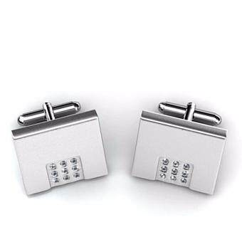 Harga LOVENGIFTS Swarovski French Style Cufflinks