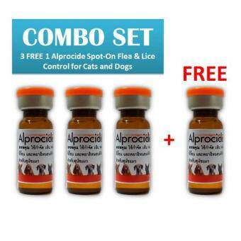 Harga 3 FREE 1 Alprocide Spot-On Flea & Lice Control for Cats and Dogs