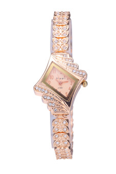 Harga King Girl A-9097 Hot Promotions Women Rose Gold Diamond Luxury Watch Fashion Brand Watch Gold