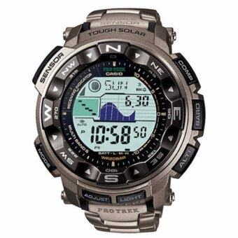 Harga Casio Protrek PRW-2500T-7 Battery Level Indicator Watch Silver
