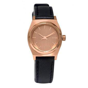 Harga Nixon Watch Time Teller Black Stainless-Steel Case Leather Strap Ladies NWT + Warranty A5091932