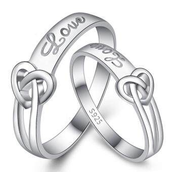 Harga Couple Rings Jewellry 925 Silver Adjustable Lovers Ring Jewelry E010