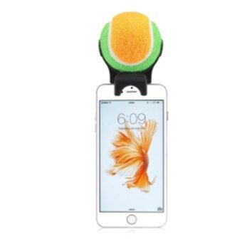 Harga Ai Home Tennis Smartphone Attachment Selfie Stick Ball For Pet Dog Self-Timer (Orange+Green)