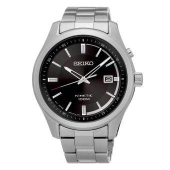 Harga Seiko Watch KINETIC silver Stainless-Steel Case Stainless-Steel Bracelet Mens NWT + Warranty SKA719P1