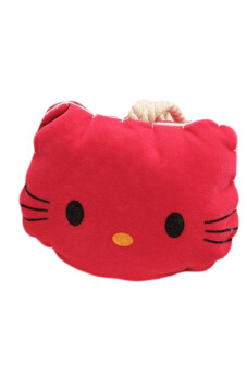 Harga Cute Kitty Pull-out Keychain Key Holder / Plush Key bag (Red)