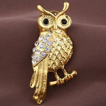 Harga South Korea's Owl Han Edition of High-grade Diamond Diamond Brooches Fashion Scarves Buckle Brooch Pin