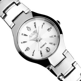 Harga 2016 High Quality NARY 6112 Single Calendar Couple's Quartz Watch(white)