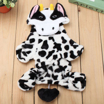 Harga L Baby Cute Pet Dog Cat Puppy Jumpsuit Clothes Costume Christmas Milk Cow Coat