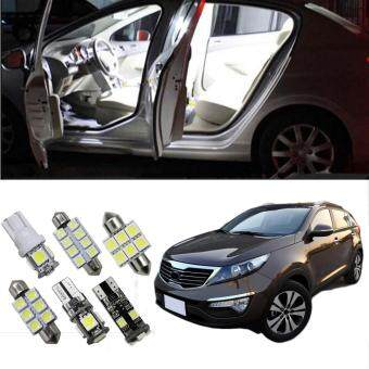 Harga 9pcs for Kia Sportage 2014 2015 LED interior light kit package Dome Map Room Vanity Mirror Glovebox Trunk Plate Light car stying