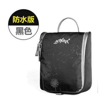 Harga AONIJIE Travel Kit Portable Wash Bag Waterproof Wash Bag Male Women Fashion Toiletries Bag - Black