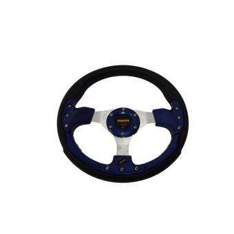 Harga MOMO 13 inch PU Steering Wheel/Drifting Steering Wheel/Racing Steering Wheel -Blue