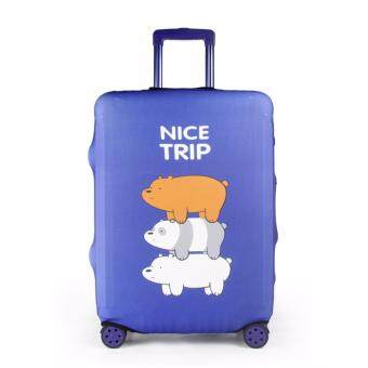 Harga Luggage Protector Cover Travel Suitcase - Nice Trip Navy - L size