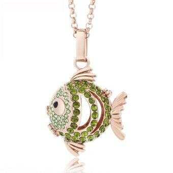 Harga Lava Stone Diffuser necklace -Fish 449