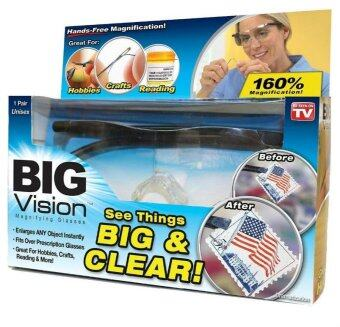 Harga Hot As Seen On TV Big Vision Magnifying Eyewear Glasses See 250 /160 Degrees More Better Reading Glasses