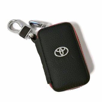 Harga Toyota Car Key Pouch / Key Chain / Key Holder Genuine Leather (Type C)