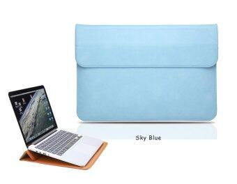 Harga Jiaing PU Leather 12-13 inch Laptop Case with Humanization Design and Heat Radiation Sleeve Protective Cover Bag for Apple Air,Macbook 12 inch,Apple Pro, Xiaomi Air(Blue)