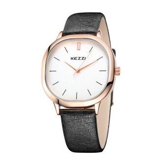 Harga KEZZI Brand Women Quartz Japan Movement Silver Bezel Case Leather Ladies Wrist Watch