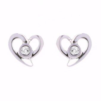 Harga Lazo Diamond Heart Shape White Gold Diamond Earrings
