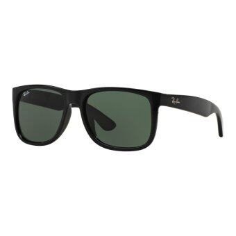 Harga Ray-Ban Justin Crystal Green Lenses RB4165 601/71 BlackSunglasses[55]
