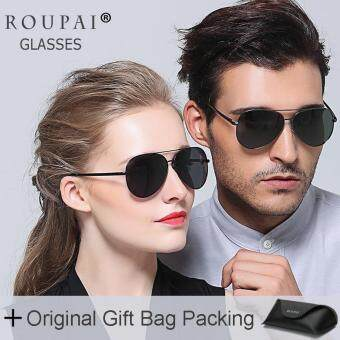Harga Loveu Sunglasses Best Gift Lover Couple Polarized Glasses Classic Aviator Sunglasses Women Men Eyeglasses Sun Protection UV400 with Leather Gift Bag