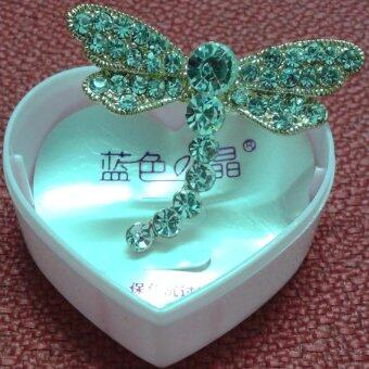 Harga 224332 Gold Planted Crystals Dragonfly Brooch