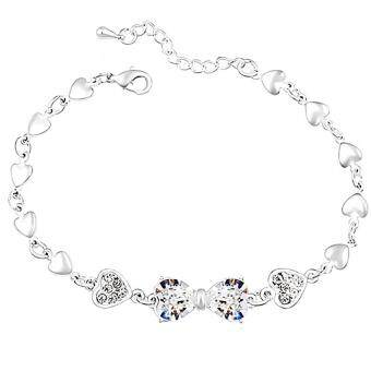 Harga LOVENGIFTS Swarovski Princess Bow Bracelet (White)