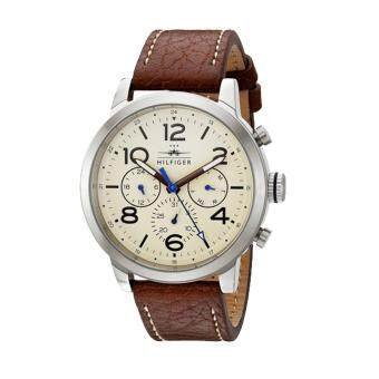 Harga Tommy Hilfiger Watch Jake Multi-Function Brown Stainless-Steel Case Leather Strap Mens NWT + Warranty 1791230