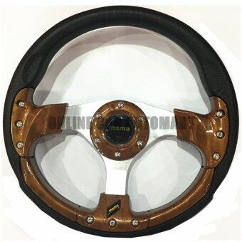 Harga MOMO 13 inch PU Steering Wheel/Drifting Steering Wheel/Racing Steering Wheel - WOOD