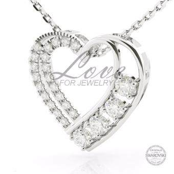 Harga Love For Jewelry ™ Heart Pendant with Crystals from Swarovski ™